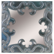 Natural Tin Square Ornate Mirror