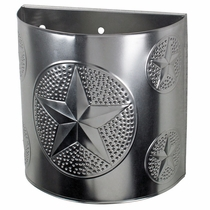 Natural Tin Texas Lone Star Sconce