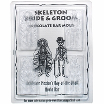 Novios Bride and Groom Chocolate Skeleton Bar Molds - Set of 2
