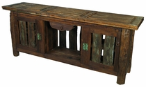 Old Door Rustic Slat Entertainment Console or Buffet