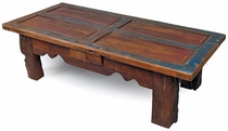 Old Door Rustic Wood Coffee Table with Drawer