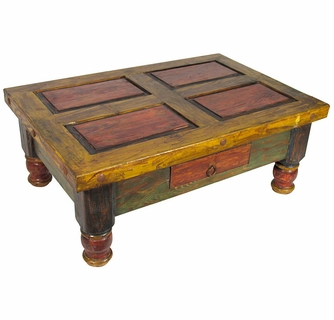 Groovy Old Mexico Painted Coffee Table Machost Co Dining Chair Design Ideas Machostcouk