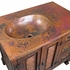Old Wood and Copper Bath Vanity - With or Without Sink