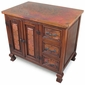 Old Wood and Copper Bath Vanity - <br>With or Without Sink