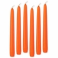 "Orange 8"" Taper Candles - Set of 6"