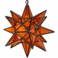 Orange Glass Star Light
