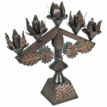 Ornate Mexican Tin Candelabra