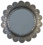 Oval and Round Tin Mirrors