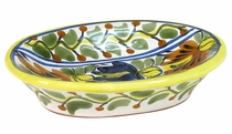 Oval Talavera Soap Dish with Ridges