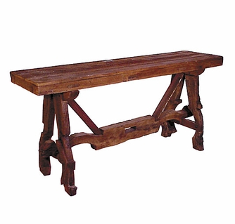 Remarkable Ox Yoke Old Wood Sofa Table Caraccident5 Cool Chair Designs And Ideas Caraccident5Info