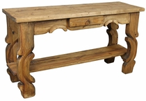 Ox Yoke Sofa Table with Shelf