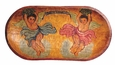 Mexican Folk Art Angels Painted Wooden Dough Bowl