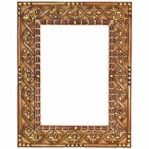 painted carved braid frame - Mexican Frame
