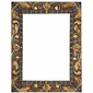 Painted Carved Floral Frames
