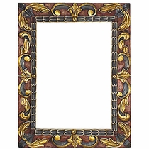 painted carved floral frames - Mexican Frame