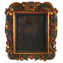 Painted Carved Wood Picture Frame - For 8 x 10