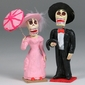 Painted Clay Catrin & Catrina