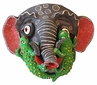 Painted Clay Elephant Mask