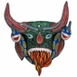 Painted Clay Flaming Mouth Mask