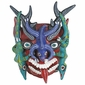 Painted Clay Upside Down Iguana Mask