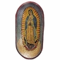 Our Lady of Guadalupe Painted Wood Dough Bowl