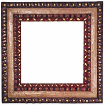 painted greca frame - Mexican Frame