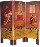 Painted Room Divider Screens and Door Ornaments