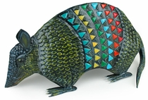 Painted Tin Armadillo Sculpture
