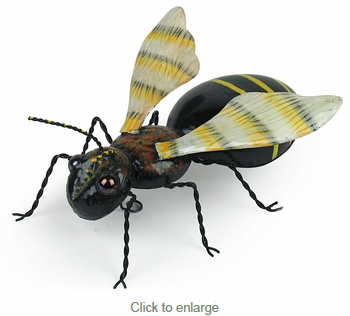 Painted Tin Bee Sculpture