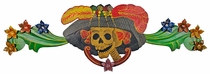 Painted Tin Catrina Door Ornament