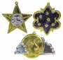 Painted Tin Celestial Ornaments - Per Doz