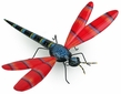 Painted Tin Dragonfly Sculpture