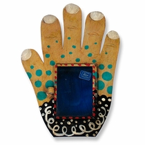 Painted Tin Hand with Nicho