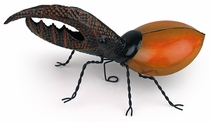 Painted Tin Hercules Beetle Sculpture