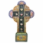 Painted Tin Jewel Cross