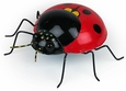 Painted Tin Lady Bug Sculpture