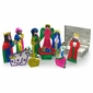 Painted Tin Nativity Box 10-Piece Set