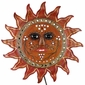 Painted Tin Sunface Wall Sconce