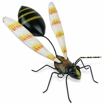 Painted Tin Wasp Sculpture