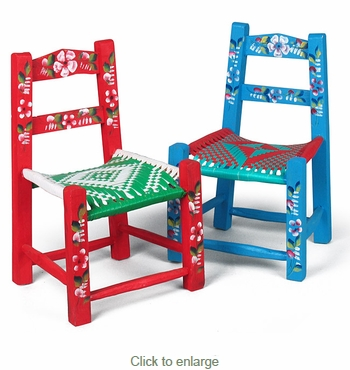 Painted Tipico Doll Chairs 16