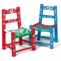 "Painted Tipico Doll Chairs 16"" - Set of 2"