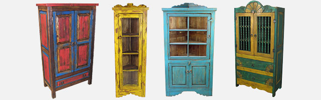 Antique Mexican Hutch Painted Wood Cabinet RUSTIC from Anthropologie