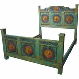 Mexican Painted Wood Bedroom Furniture