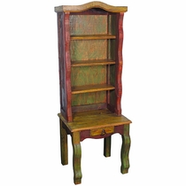 Painted Wood Chair Hutch
