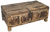 Painted Wood Coffee Table Trunk - Brown