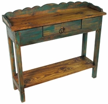 Painted Wood Console Table with Drawer