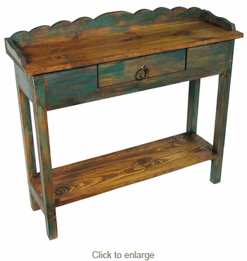 Attractive Painted Wood Console Table With Drawer