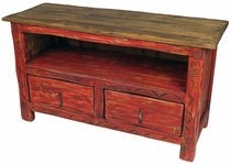 Painted Wood Entertainment Console