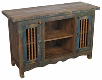 Painted Wood Entertainment Console/Buffet Blue
