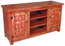 Painted Wood Entertainment Console Red